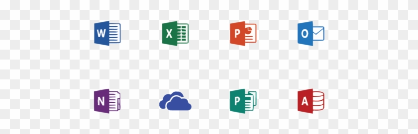 Office - Office 365 Application Logos, HD Png Download - 1000x415
