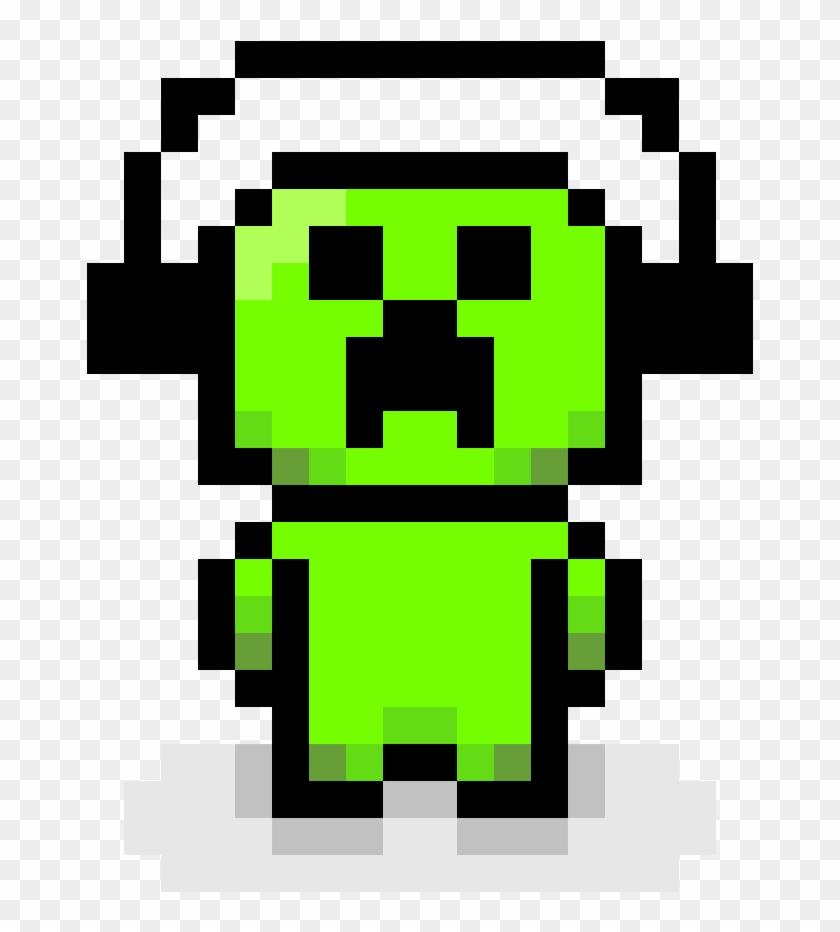 Pixel Art Creeper Minecraft Creeper Pixel Art Hd Png