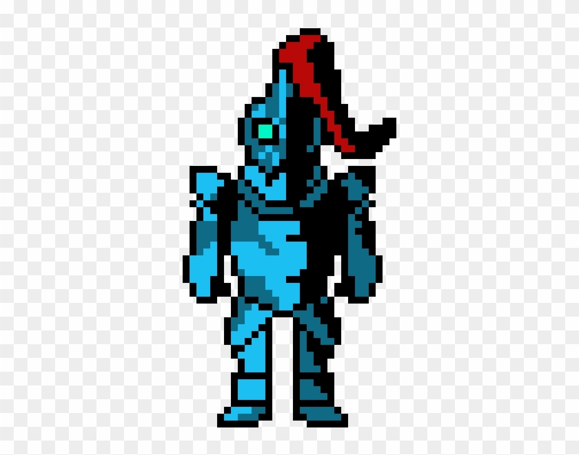 Undyne - Undyne Pixel Art Maker, HD Png Download - 680x710