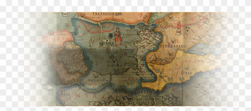 Witcher World Map - Atlas, HD Png Download - 1608x774(#2870522 ...