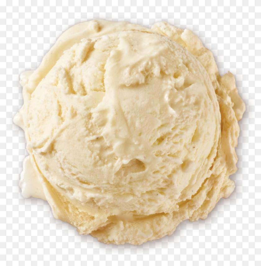 Homemade Brand Natural Vanilla Bean Ice Cream Scoop - Vanilla Ice Cream Transparent, HD Png