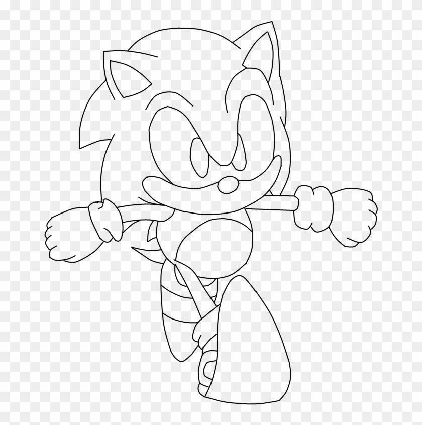 Sonic E Tails - Sonic Mania Coloring Page, HD Png Download -  721x796(#2879929) - PngFind