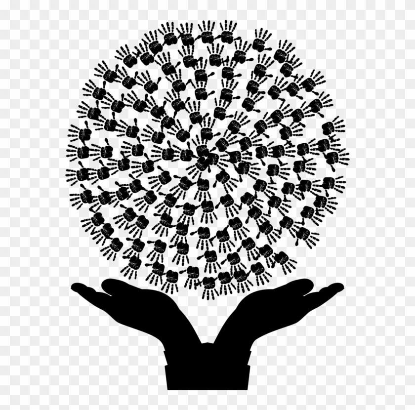 Handprint Drawing Ink Tree In Hand Logo Png Transparent