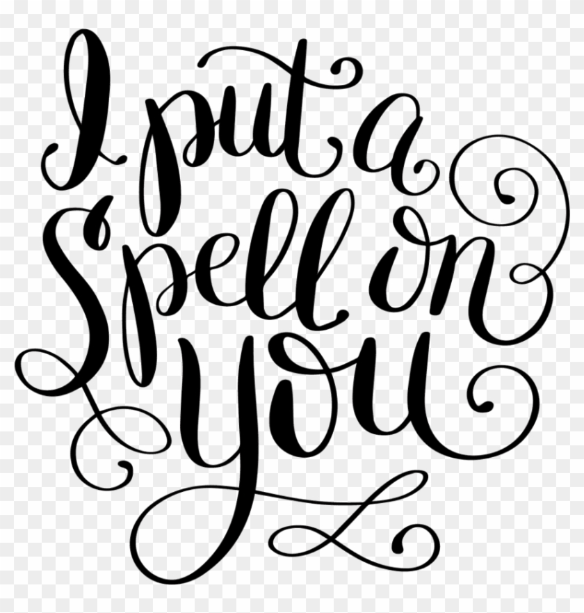 """Hand Lettered """"spell On You"""" Free Print Cut File"""