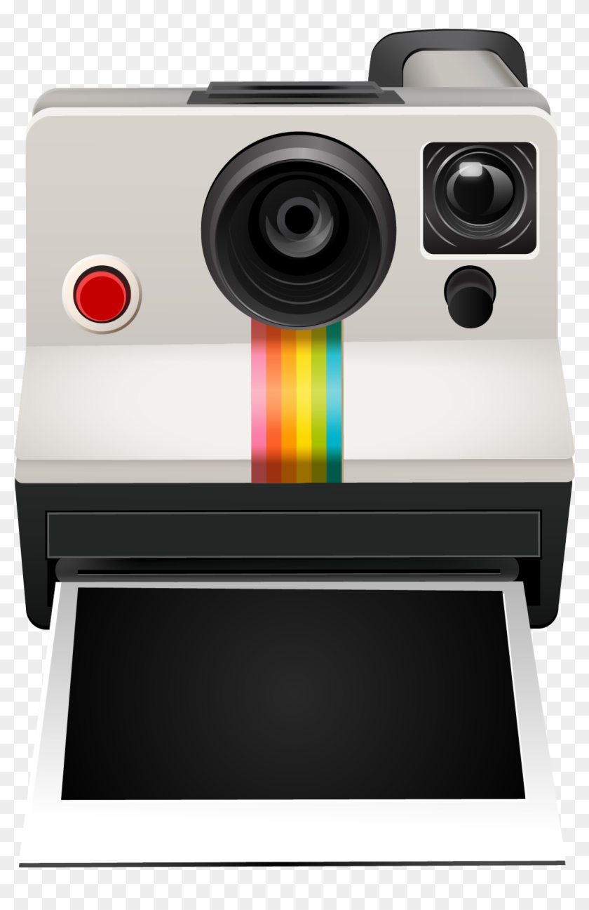 Polaroid transparent. The camera clipart instant