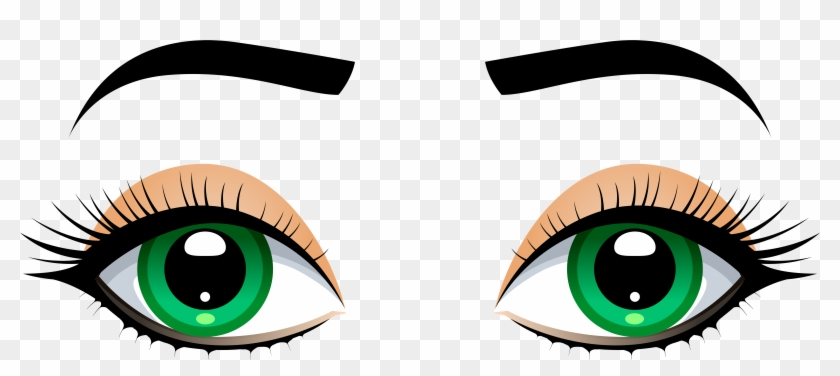 Eyes human eye. Female with eyebrows png