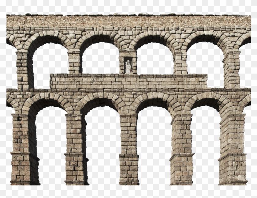 Medieval Castle Stone Arch Bridge Png - Arch Stone