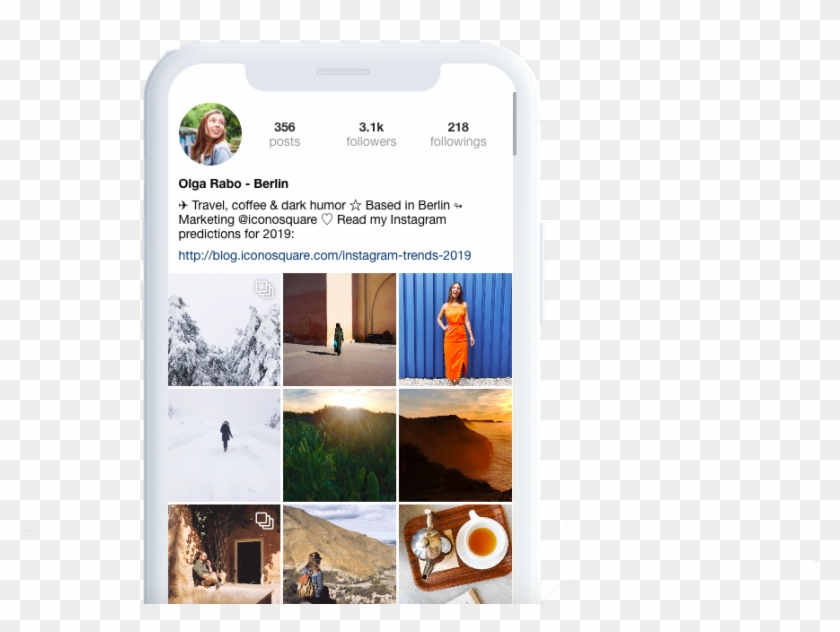 Instagram Feed Preview On Iconosquare - Iphone, HD Png