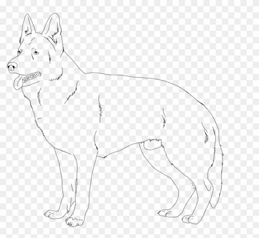Download German Shepherd Coloring Pages - Line Art, HD Png Download -  900x900(#2937819) - PngFind