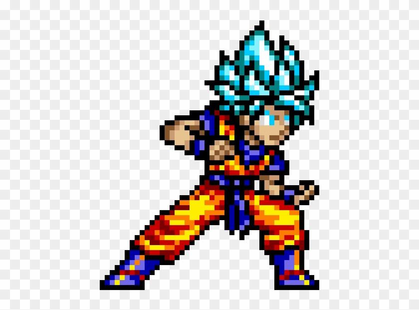 Goku Goku Super Saiyan Blue Pixel Art Hd Png Download