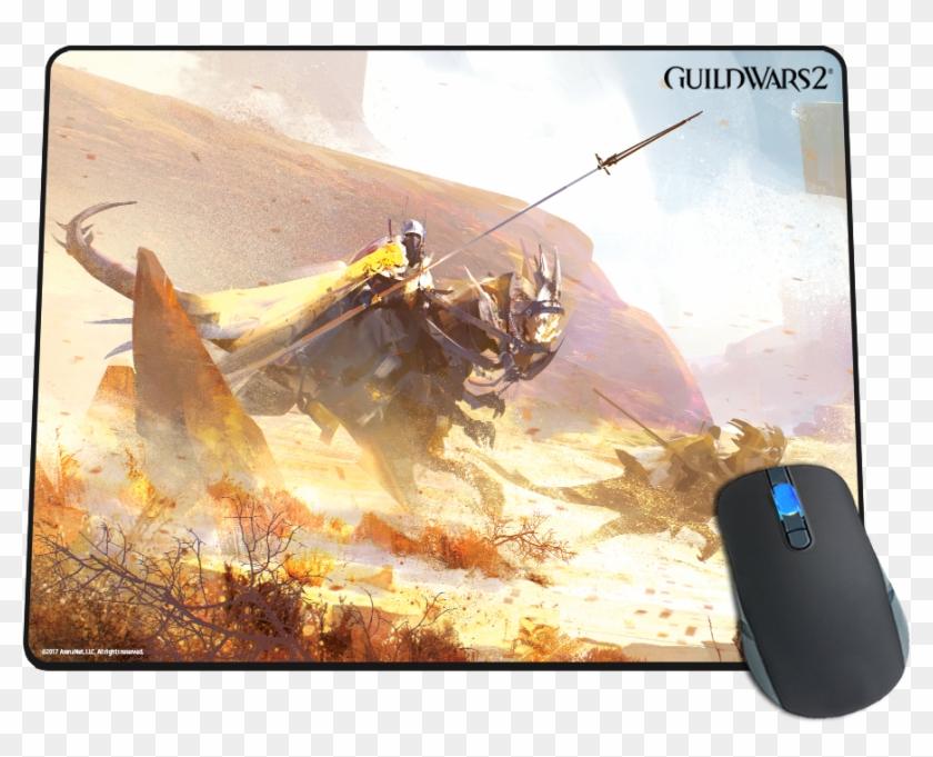 Desert Raptors Mousepad - Guild Wars 2 Path Of Fire, HD Png