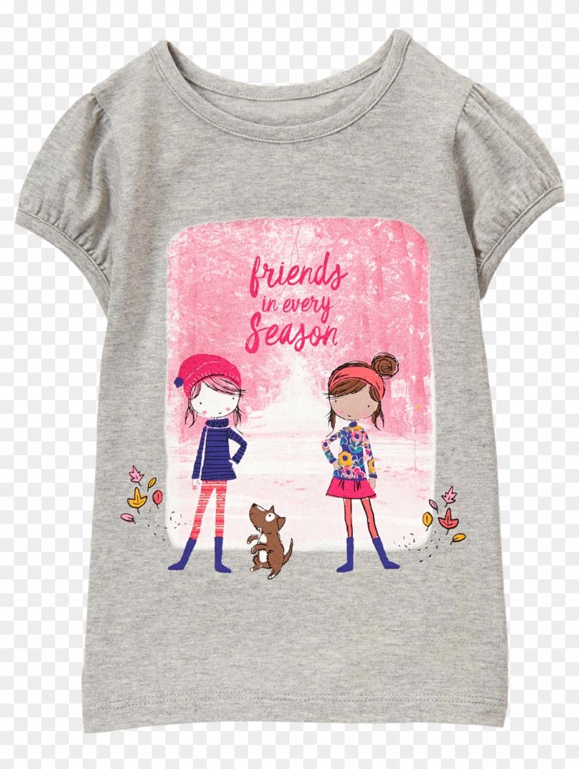 520ce0f01 Friends Tee Gymboree, Heather Grey, Kids Wear, Toddler - Cartoon, HD Png