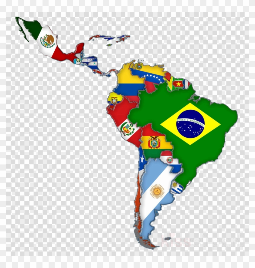 Latin America Map Flags Clipart Flags Of South America Latin
