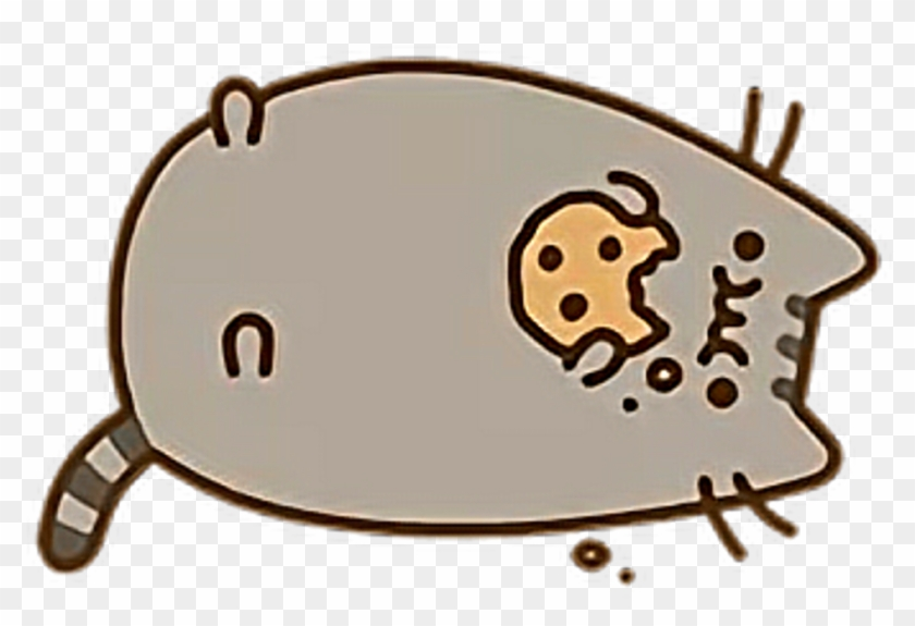 Pusheen With A Cookie Png Download Pusheen Png Transparent Png
