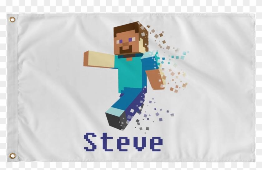 Minecraft Wall Flag Steve Minecraft Steve Png 2d Transparent