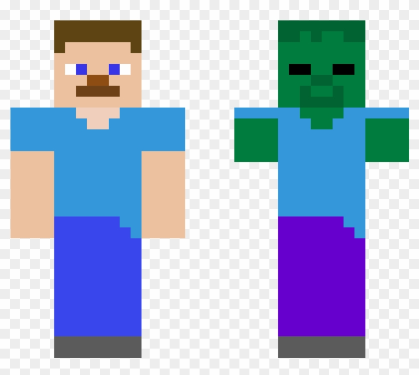 Zombie And Steve Minecraft Steve Minecraft Skin Hd Png Download 1200x1200 2982239 Pngfind