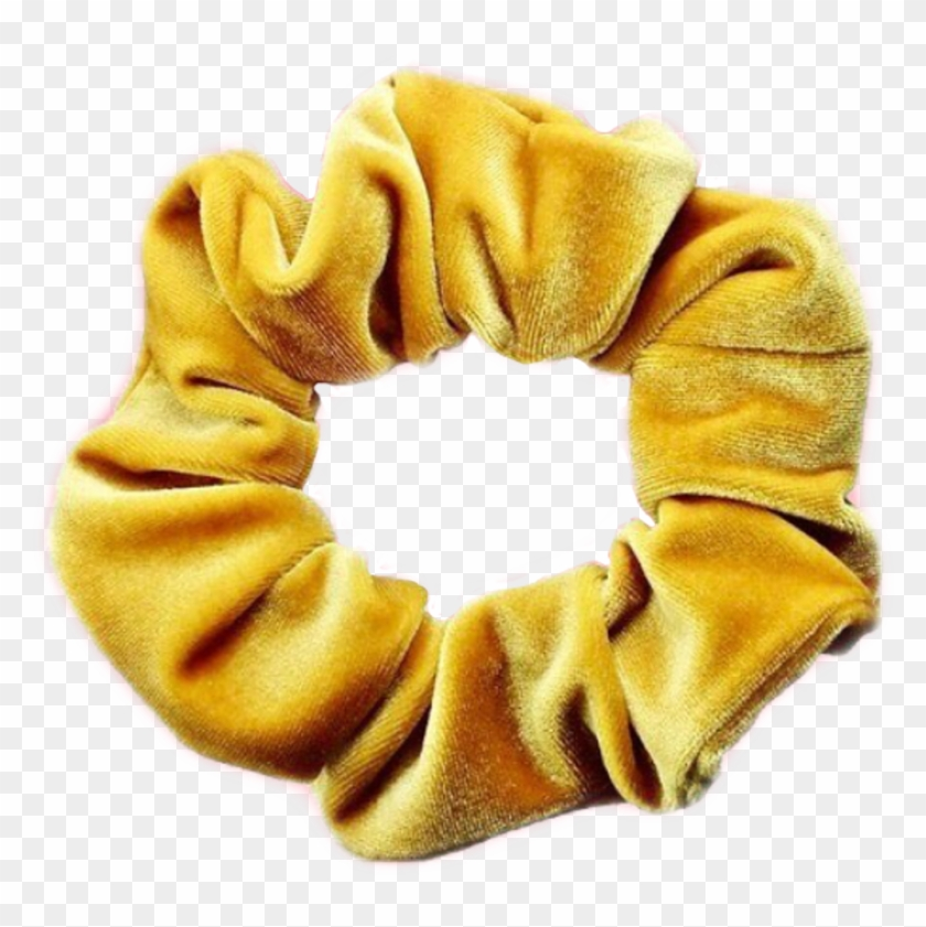 Scrunchie Hairtie Yellow Aesthetic Hd Png Download 1024x977