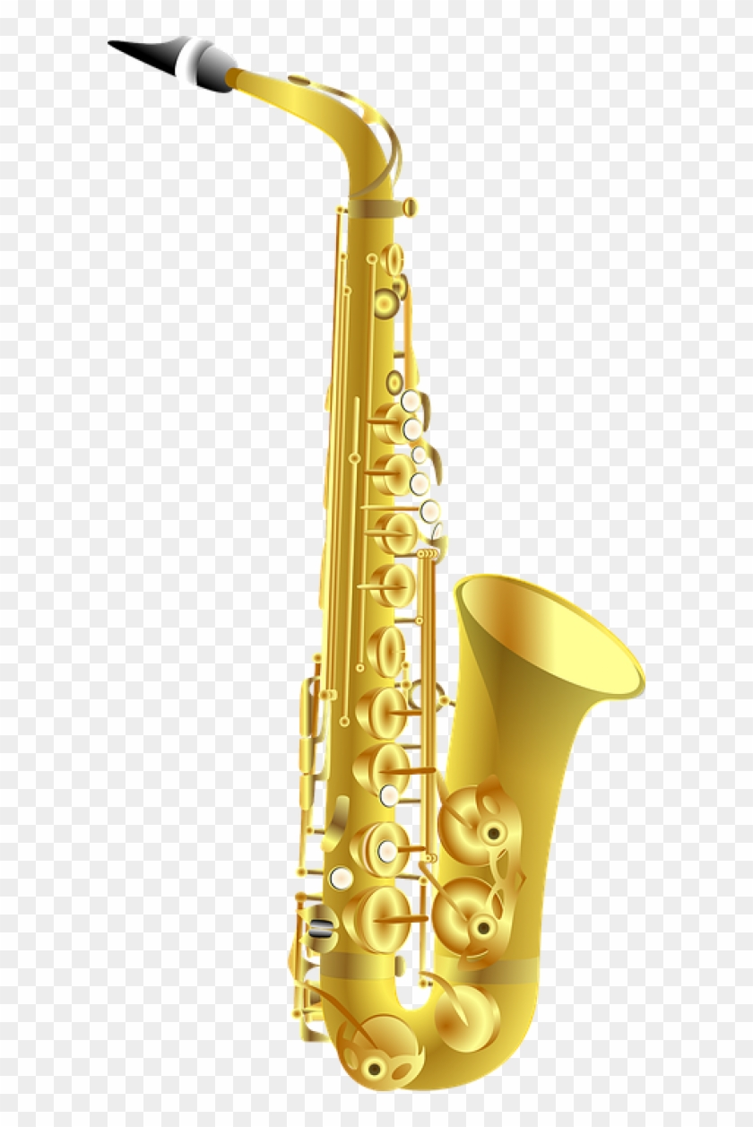 Trumpet Png Free Download - Cartoon Saxophone Transparent Background