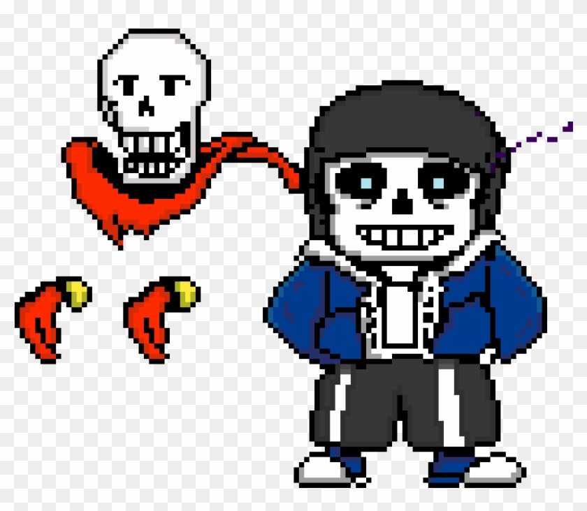 Dusttale Sans And Papyrus - Cartoon, HD Png Download