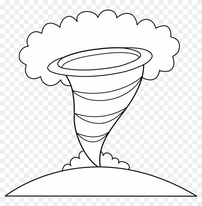 Tornado Clip Hurricane Tornado Coloring Pages Hd Png