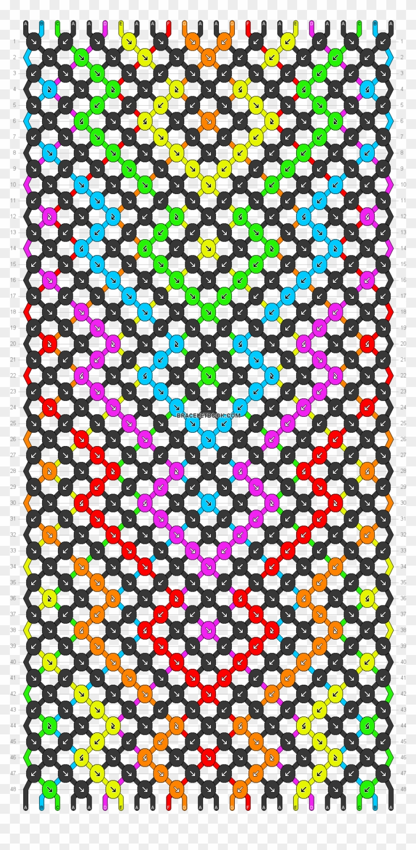 Download Preview Pattern Friendship Bracelet 12 Strings Hd Png Download 962x1896 30173 Pngfind