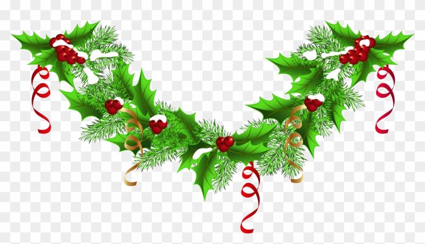 Christmas Garland Border Png Transparent Png 6290x3469 30449