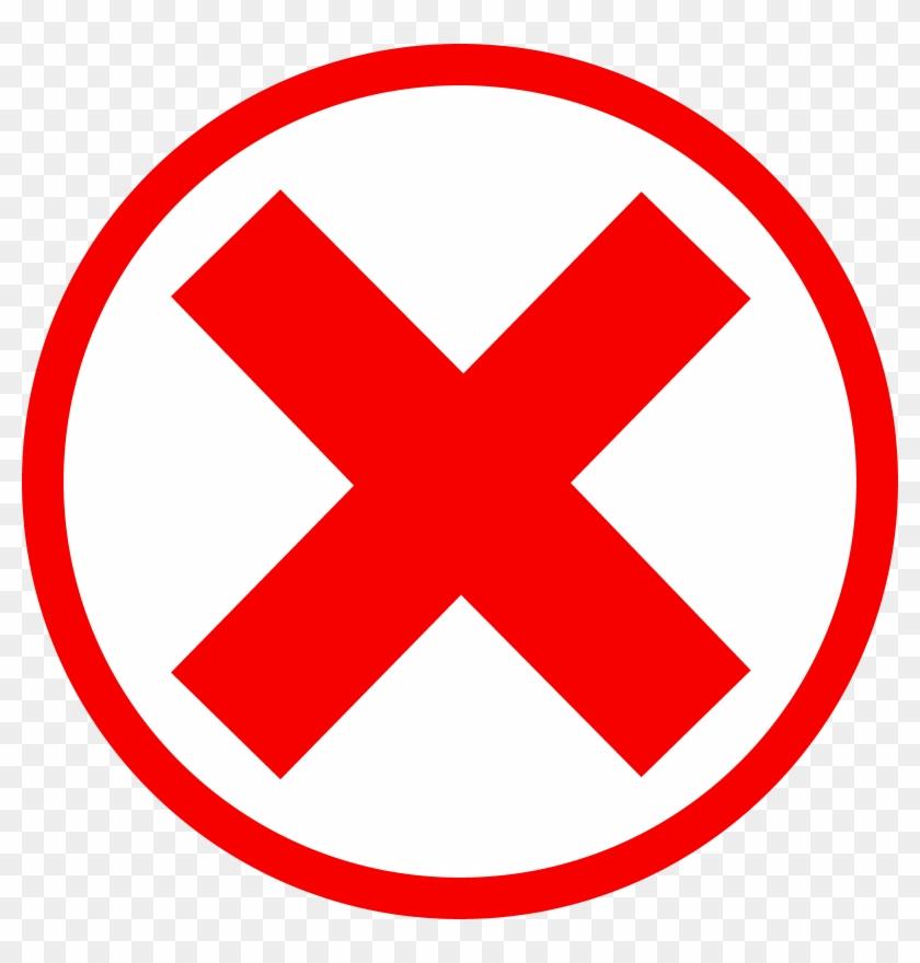 Red x symbol. Cross mark clipart black