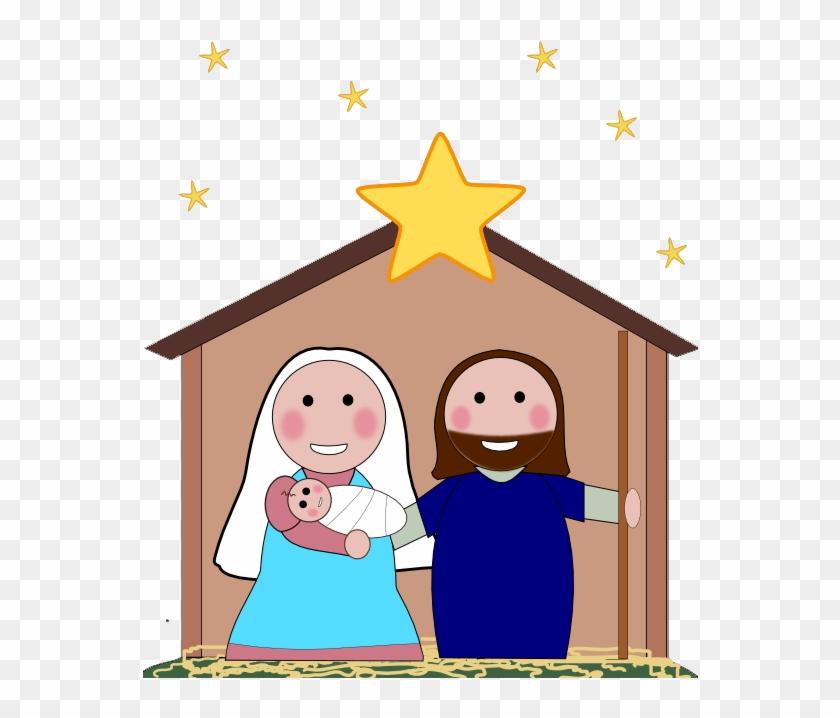 Nativity simple. Free clipart silhouette cartoon