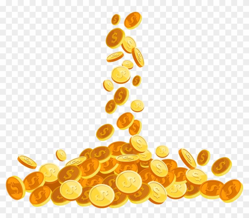 Coin Euclidean Vector - Gold Coins Vector Png, Transparent ...