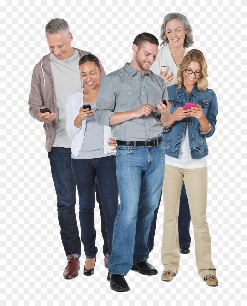 Nectar People Looking At Smartphones Copy - People Looking