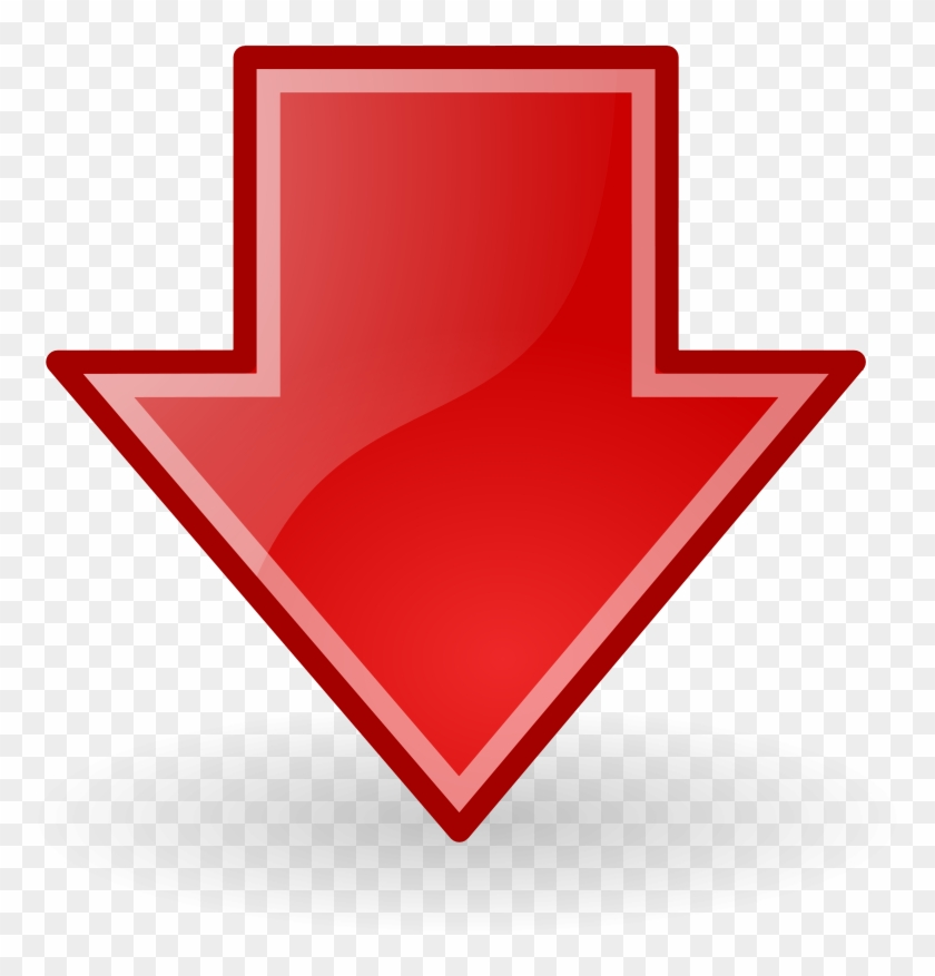 Down Arrow Red Blue Down Arrow Png Transparent Png