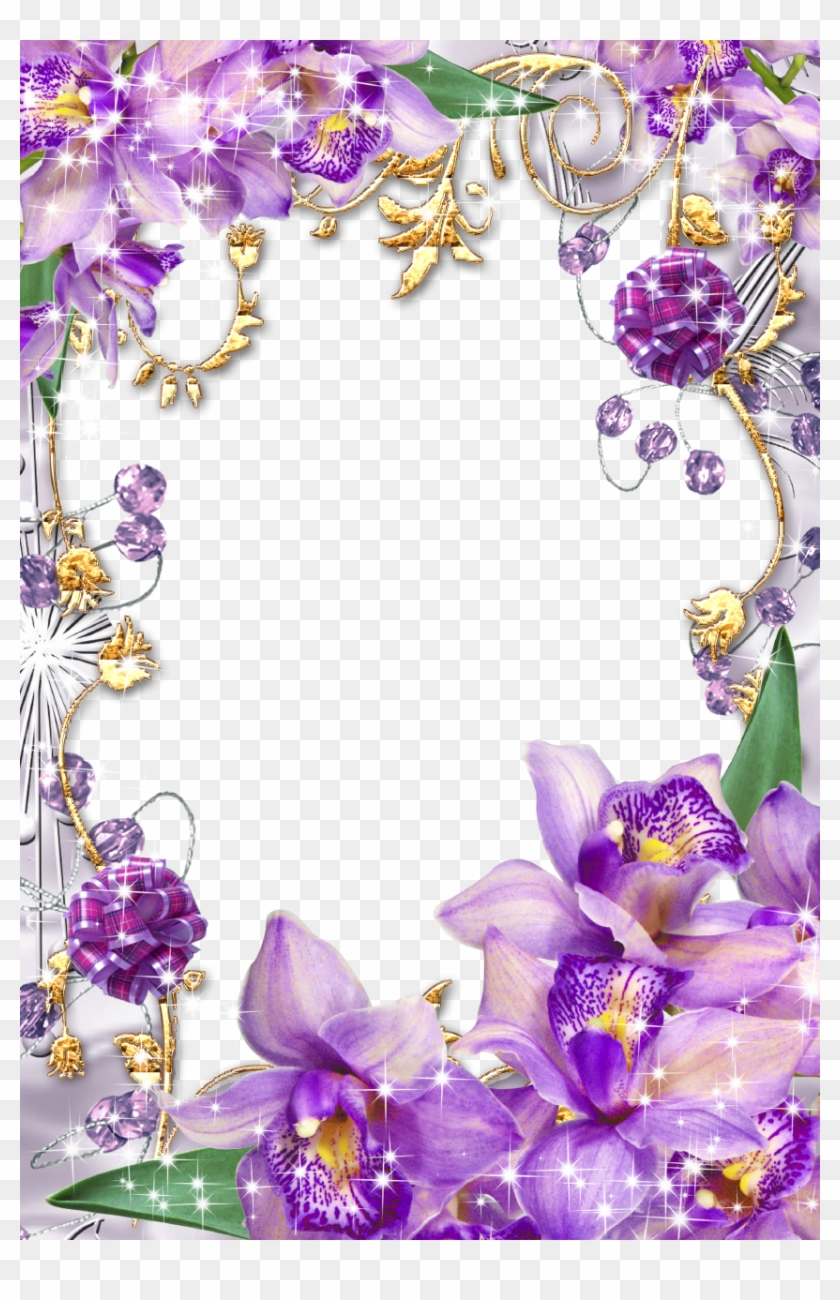 Purple Flower Borders And Frames Purple Flowers Borders And Frames Hd Png Download 853x1280 307523 Pngfind