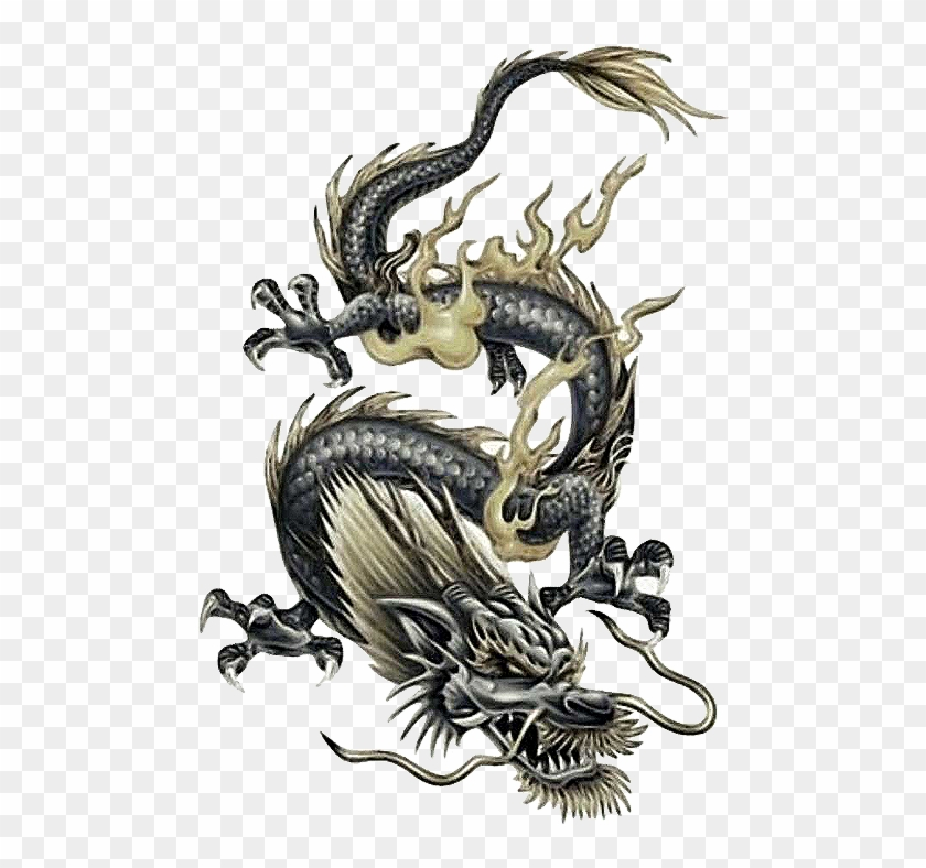 Tattoo Japanese Chinese Dragon Free Frame Clipart - Dragon Tattoo