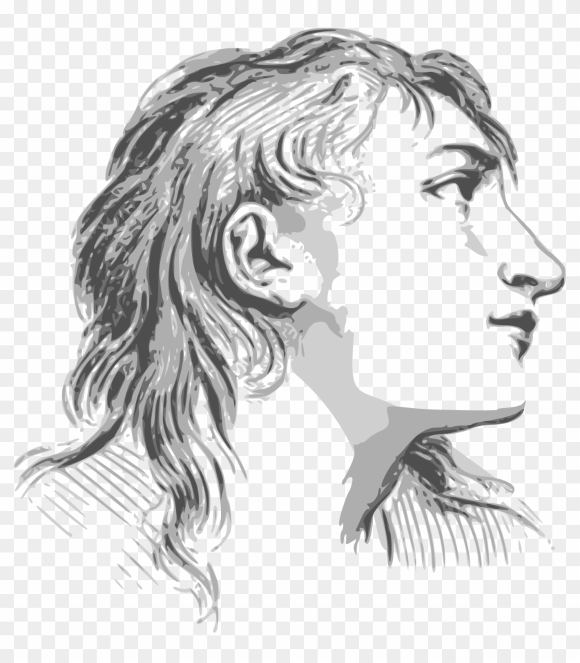 Drawing of womans sad face in profile facial expressions drawings of emotions hd png