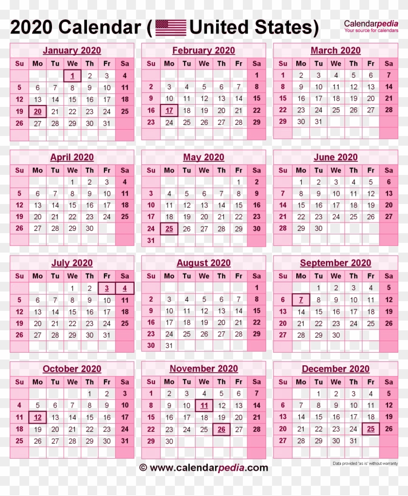 Free Printable 2020 Calendar With Holidays South Africa.2020 Calendar Png Pic 2019 Calendar With Government Holidays