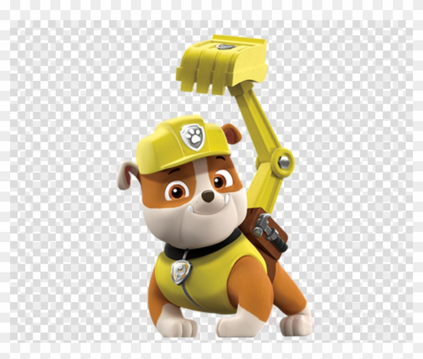 Paw patrol rubble. Clipart dog puppy yellow