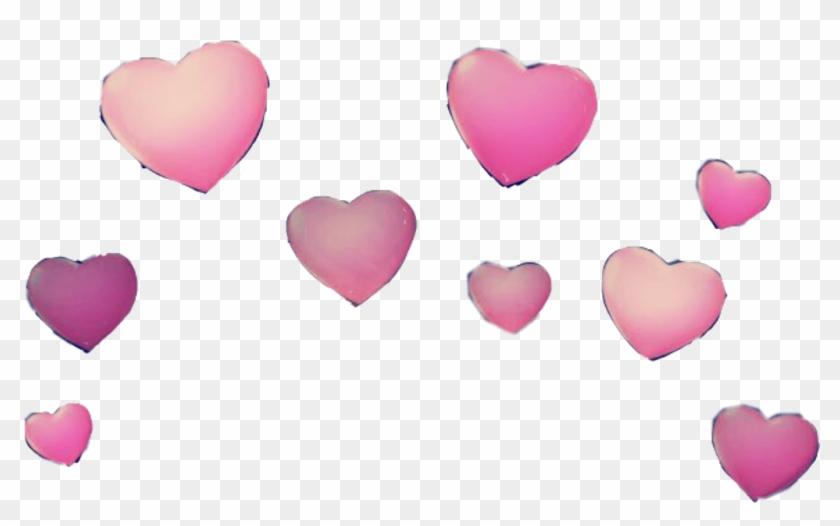 Snapchat Hearts Png - Snapchat Filter Png Hearts