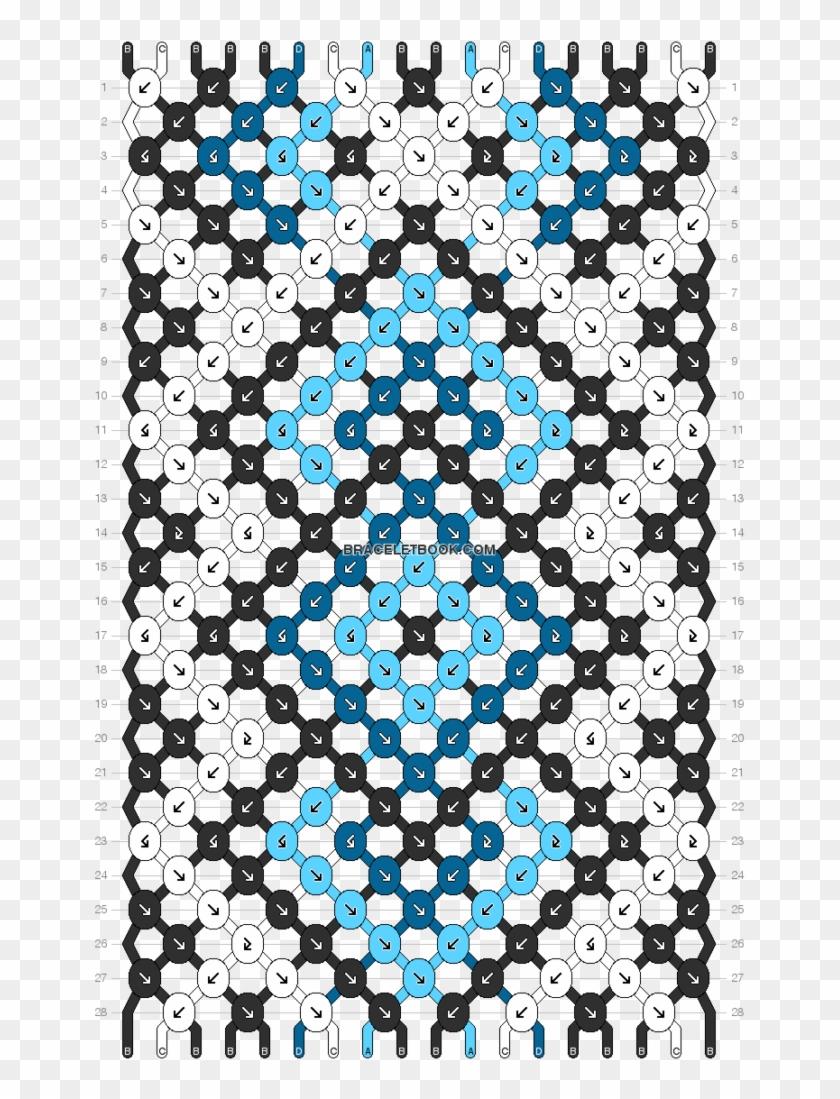 Diamonds Friendship Bracelet Pattern Number 11003 For Friendship Bracelet Patterns Blue Hd Png Download 662x1024 3024845 Pngfind