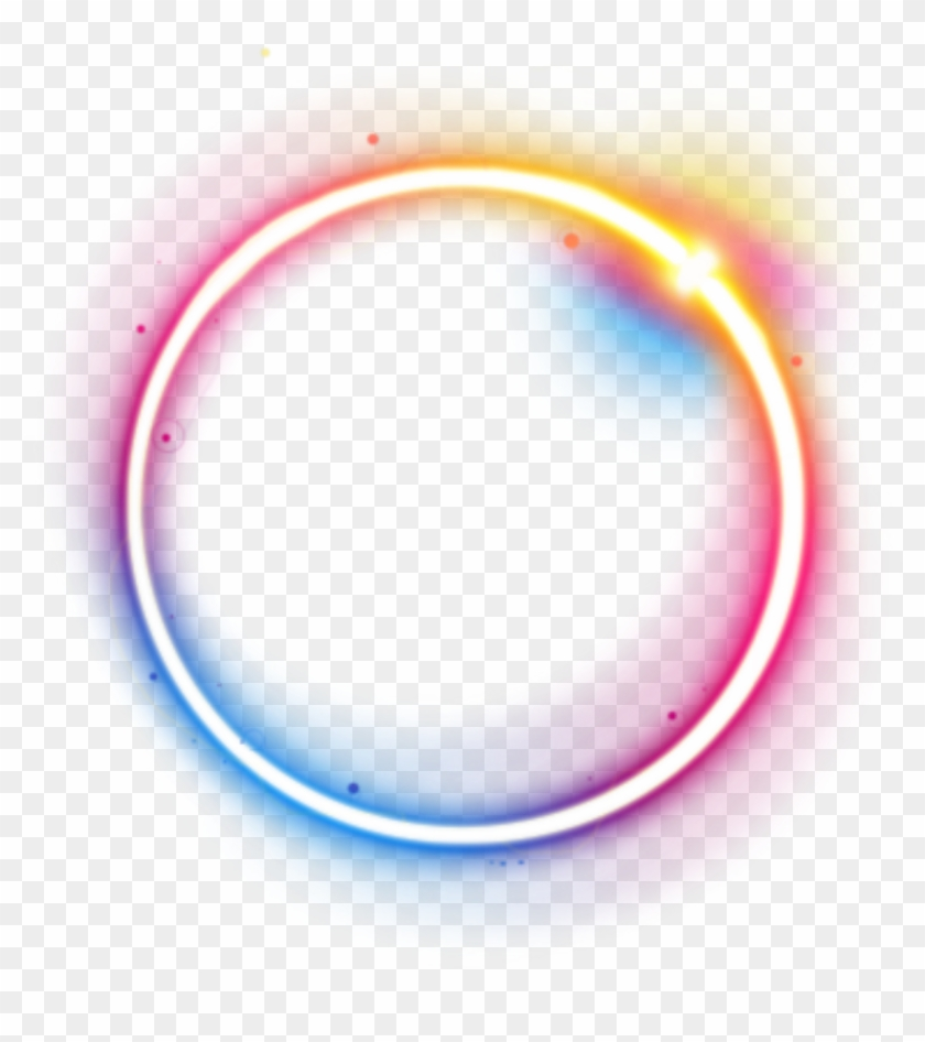 Transparent Neon Circle - Neon Rainbow Circle Png, Png