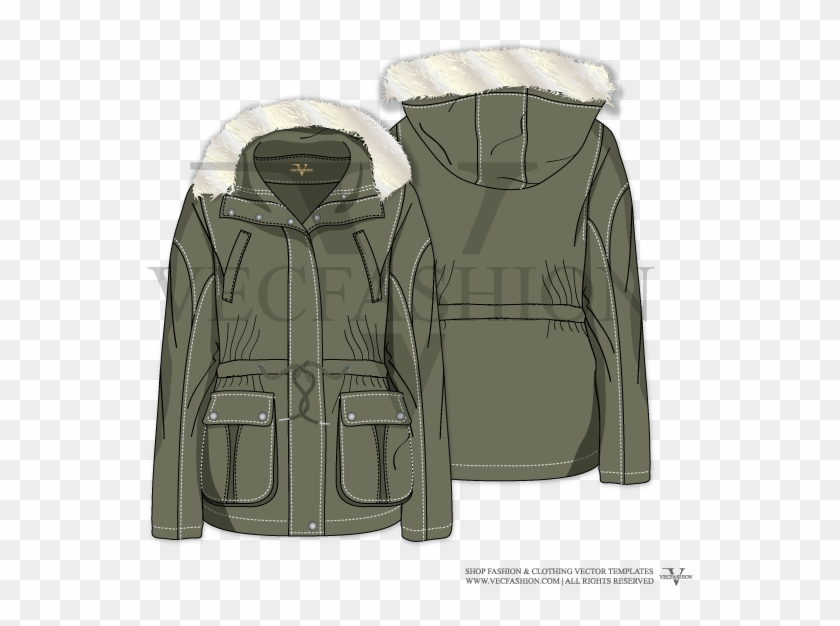 de072298e1 Drawing Jackets Ink - Sketches Anorak Womens Jacket Illustrator, HD ...