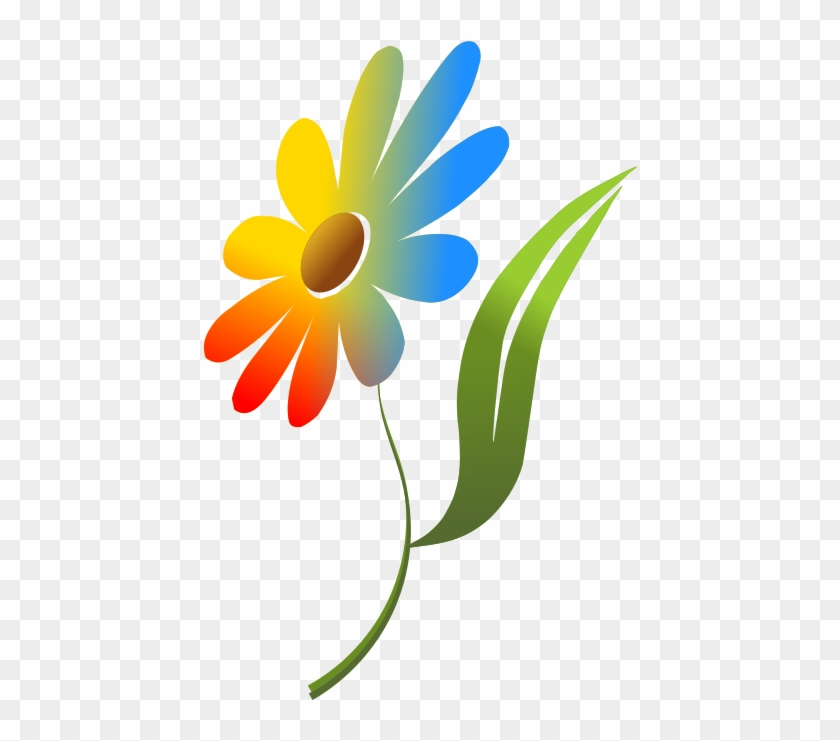 Animated summer. Cliparts single flower images