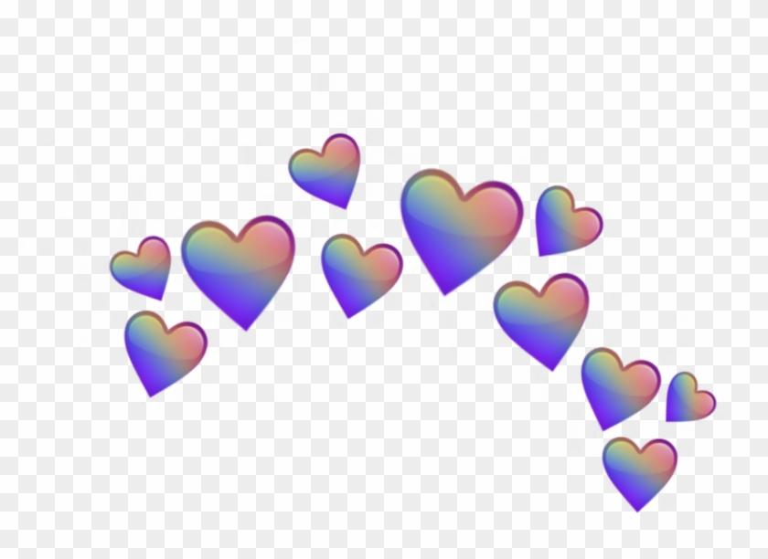 Heart Rainbow Flower Crown Emoji Png Png Heart Rainbow