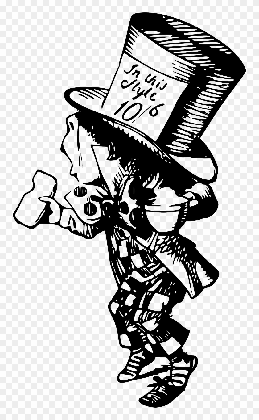 Mad Hatter Character Png Image Original Mad Hatter Drawing Transparent Png 756x1280 3074242 Pngfind