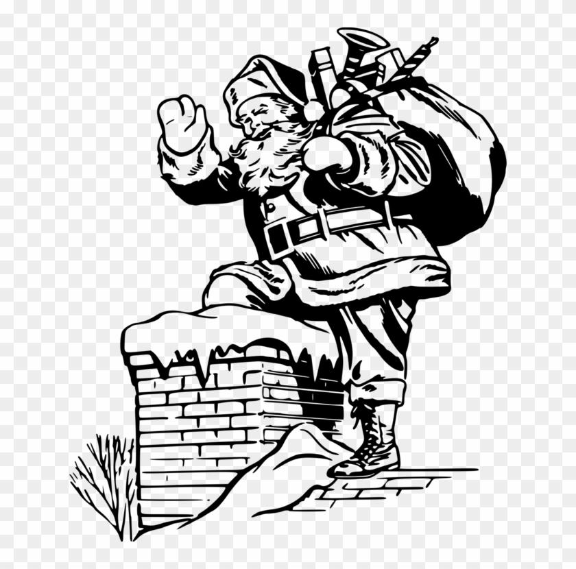 Christmas Day Drawing.Santa Claus Drawing Christmas Day Line Art Father Christmas
