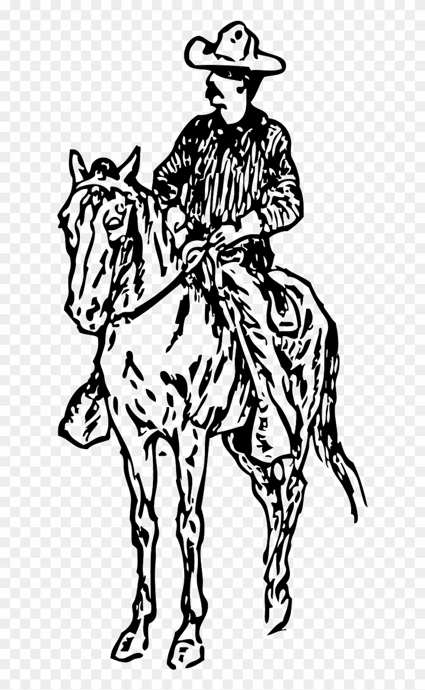 Gaucho Person Man Cowboy Horse Png Image Cowboy Horse Clipart Black And White Transparent Png 640x1280 3092268 Pngfind