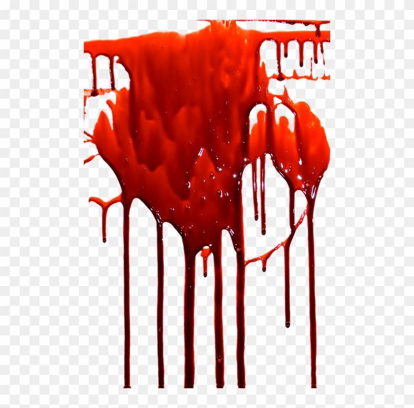 Transparent Dripping Blood Background - Transparent ...