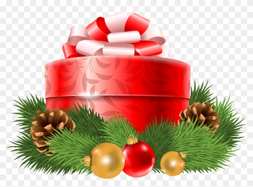 Christmas Gift Box Png.Free Png Transparent Christmas Red Gift Decor Png