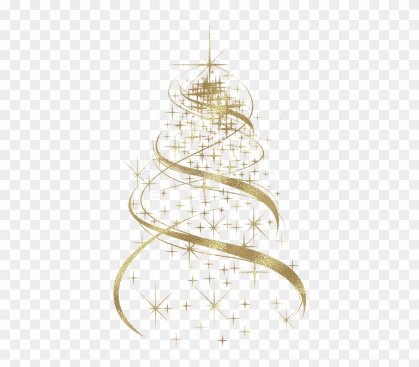 Free Png Transparent Golden Christmas Tree Decoration