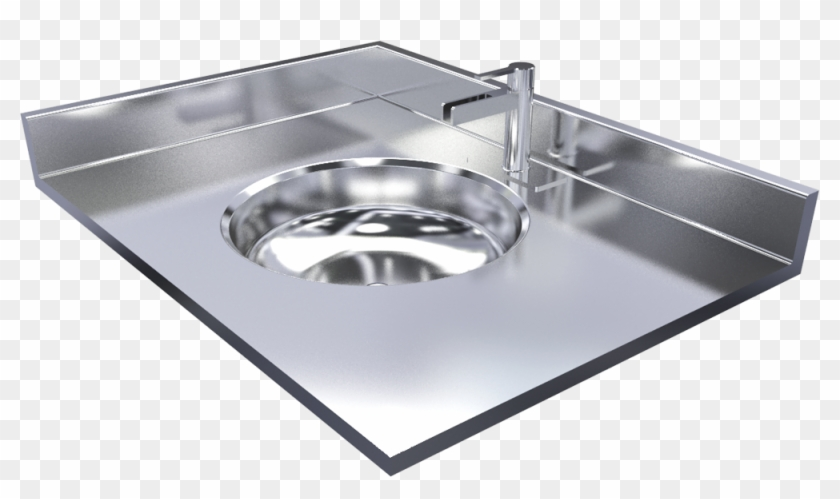 Stainless Steel Vanity Top With Integrally Welded Sink Kitchen