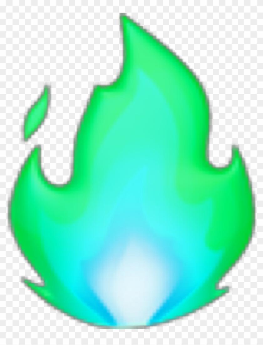 Fire Fuego Lightblue Celeste Green Verde Emoji Freetoedit